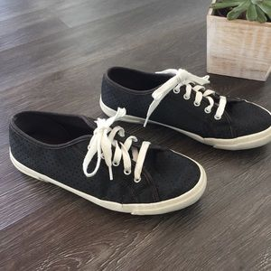 Faux-Leather Perforated Sneakers!